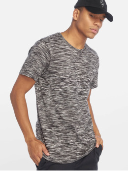 Urban Classics t-shirt Striped Melange zwart