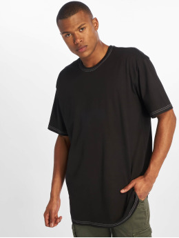 Urban Classics t-shirt Heavy Oversized Contrast Stitch zwart