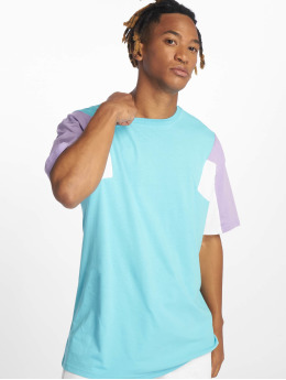 Urban Classics T-shirts 3-Tone  blå