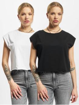 Urban Classics T-shirts Ladies Organic Short 2-Pack sort