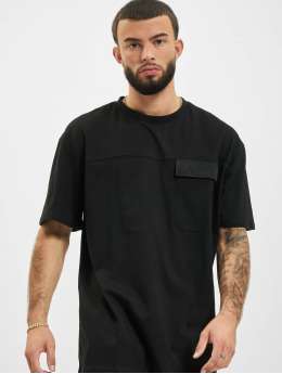 Urban Classics T-Shirty Oversized Big Flap Pocket  czarny