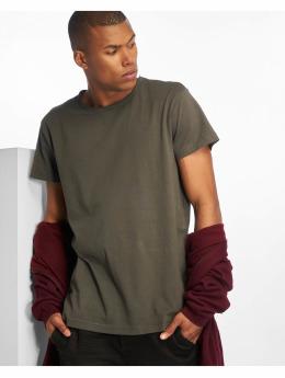 Urban Classics T-skjorter Pigment Dye High Low grå