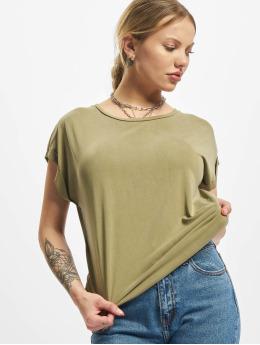 Urban Classics T-skjorter Ladies Modal Extended Shoulder khaki