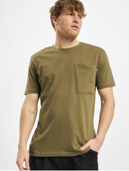 Urban Classics T-skjorter Basic Pocket oliven