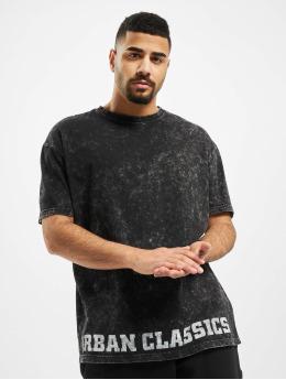 Urban Classics T-skjorter Acid Washed Logo  svart