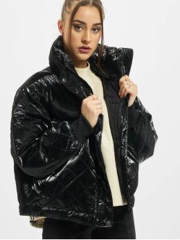 Urban Classics Talvitakit Ladies Vanish Oversized Diamond Quilt musta