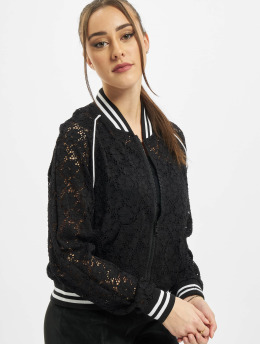 Urban Classics Teddy Ladies Lace College noir