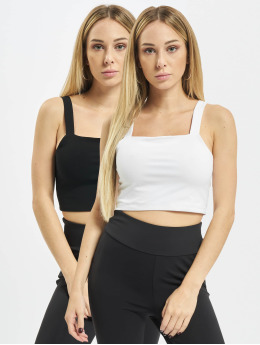 Urban Classics Top Cropped Top 2-Pack negro