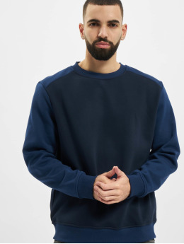 Urban Classics Trøjer 2-Tone Fake Raglan blå