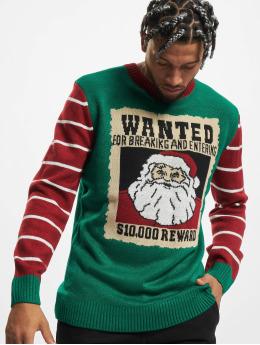 Urban Classics Trøjer Wanted Christmas  grøn