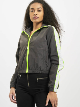 Urban Classics Transitional Jackets Ladies Short Piped grå