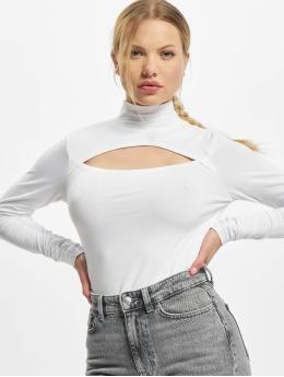 Urban Classics Tričká dlhý rukáv Ladies Cut-Out Turtleneck  biela