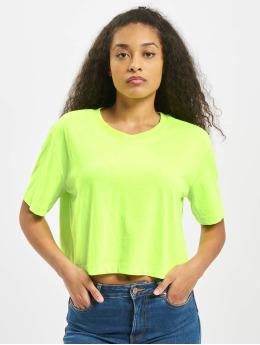 Urban Classics Tričká Ladies Short Oversized Neon zelená