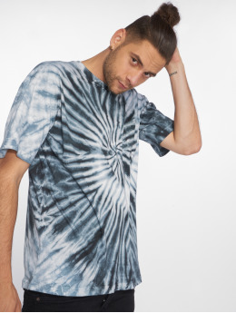 Urban Classics Trika Spiral Tie Dye Pocket modrý