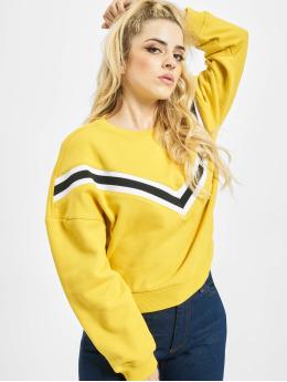 Urban Classics trui Inset Striped geel