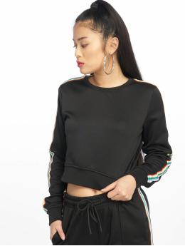 Urban Classics trui Multicolor Taped Sleeve zwart
