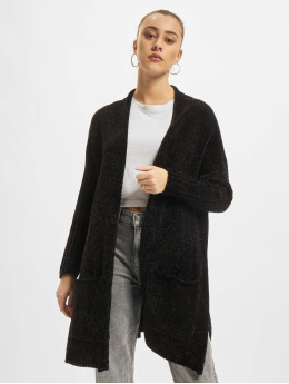 Urban Classics vest Oversize Chenille zwart