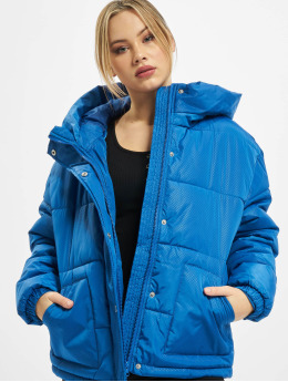 Urban Classics Veste matelassée Ladies Oversized Hooded bleu