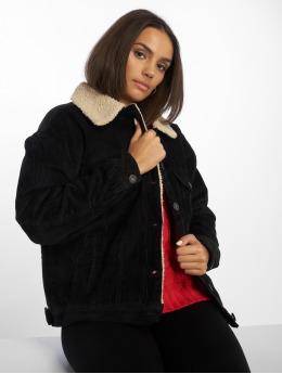 Urban Classics Veste mi-saison légère Oversize Sherpa Corduroy noir