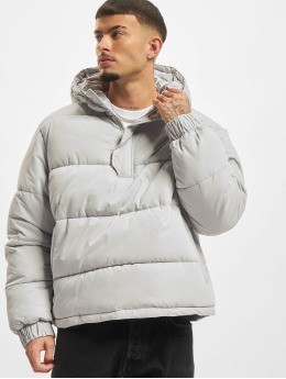 Urban Classics winterjas Hooded Cropped Pull Over  grijs