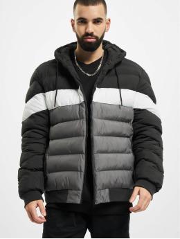 Urban Classics winterjas Colorblock Bubble zwart