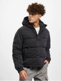 Urban Classics winterjas Hooded Cropped zwart
