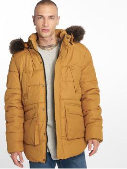Urban Classics Zimní bundy Faux Fur hnědý