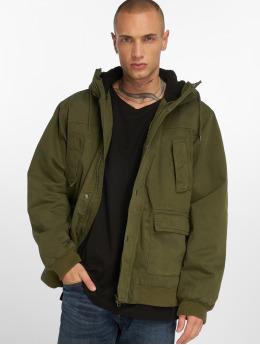 Urban Classics Zimní bundy Hooded olivový