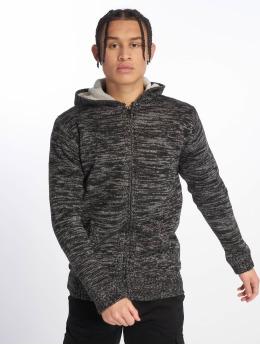 Urban Classics Zip Hoodie Winter Knit čern