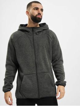 Urban Classics Zip Hoodie Knit Fleece šedá