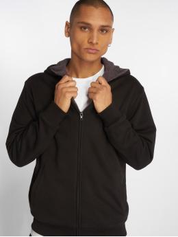 Urban Classics Zip Hoodie Sherpa Lined черный