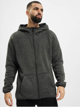 Urban Classics Zip Hoodie Knit Fleece grau