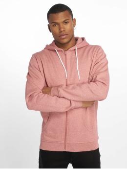 Urban Classics Zip Hoodie Melange růžový