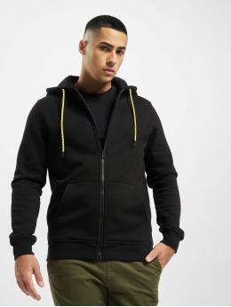 Urban Classics Zip Hoodie Contrast Drawstring  svart