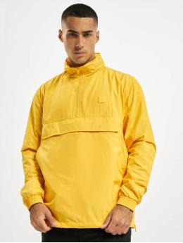 Urban Classics Zomerjas Hidden Hood Pull Over geel