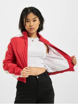 Urban Classics Zomerjas Short Striped Crinkle rood