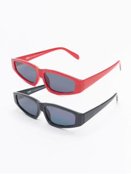 Urban Classics Zonnebril Sunglasses Lefkada 2-Pack zwart