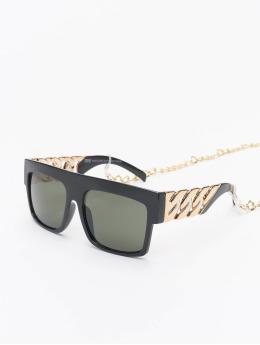 Urban Classics Zonnebril Sunglasses Zakynthos With Chain zwart