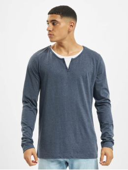 Urban Surface Longsleeve Button blau