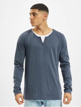 Urban Surface Pitkähihaiset paidat Button sininen