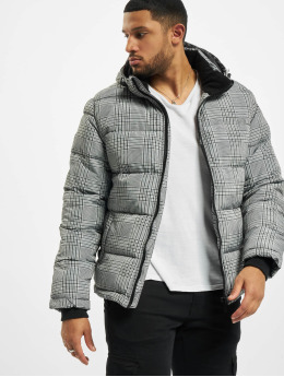 Urban Surface Puffer Jacket Checked  schwarz