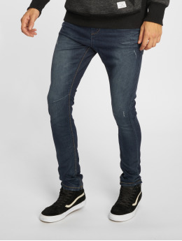 Urban Surface Skinny Jeans Stone Washed modrý