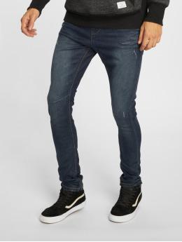 Urban Surface Skinny Jeans Stone Washed niebieski