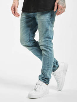 Urban Surface Slim Fit Jeans Stone Washed blauw