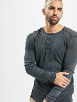 Urban Surface T-Shirt manches longues Ripped bleu