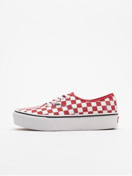 Vans Authentic Platform 2.0 Sneakers Racing Red/True White Checkerboard