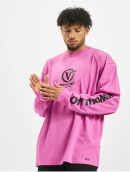 Vans T-Shirt manches longues Distorted Performance rose