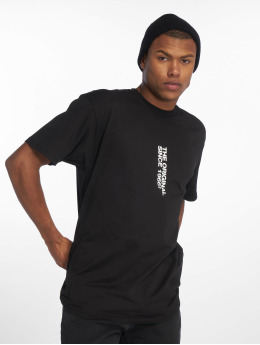 Vans t-shirt Distort Center zwart