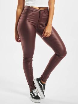 Vero Moda Skinny Jeans vmSeven Smooth brazowy