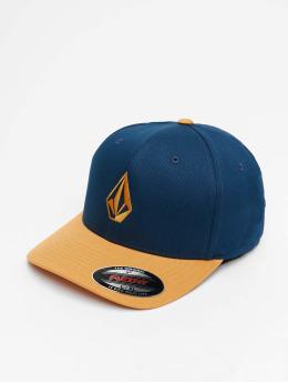 Volcom Flexfitted Cap Full Stone Xfit blau
